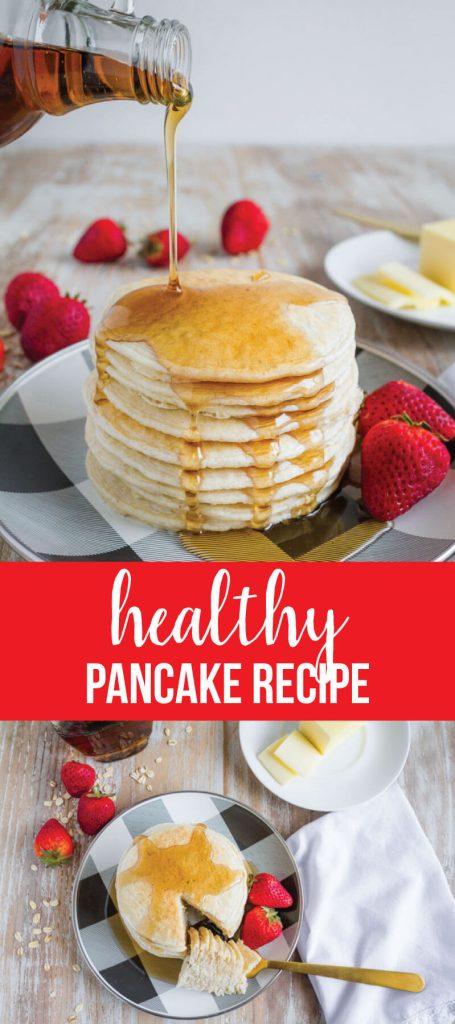 Healthy Pancake Recipe - make these 4 ingredient pancakes in the blender! www.thirtyhandmadedays.com