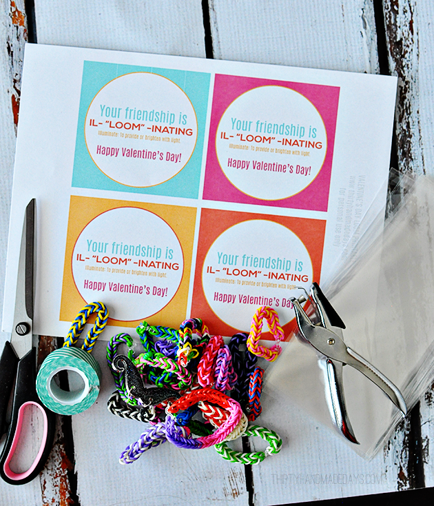 Loom Valentines Day Idea with Printable Card – Valentines Day Ideas Card