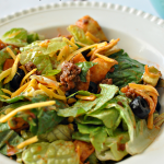 Mom's Taco Salad- simple but delicious salad that's perfect for dinner www.thirtyhandmadedays.com