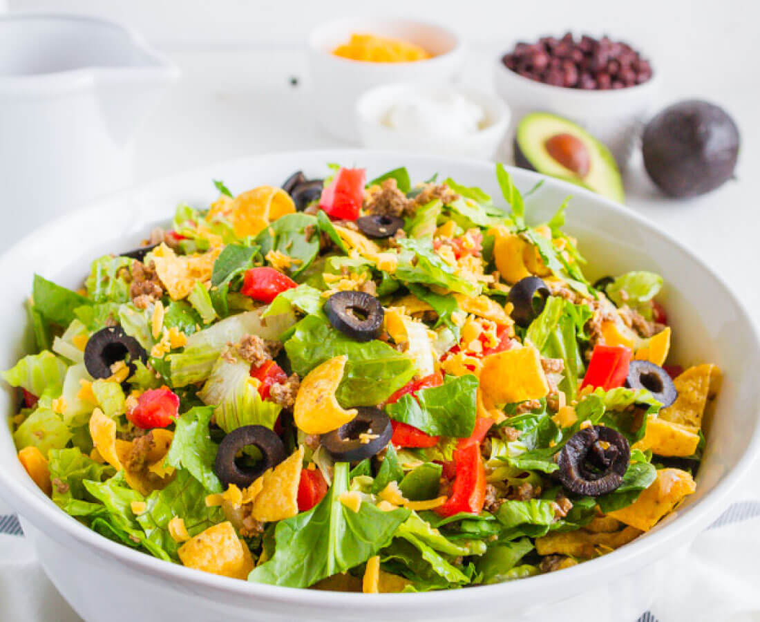 Mom's Taco Salad - a family favorite dinner recipe that we make over and over.