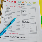 Month at a Glance- part of the ultimate Budget Binder from www.thirtyhandmadedays.com