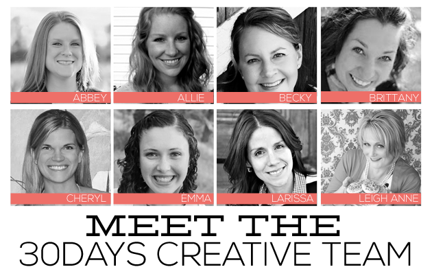 Meet the 30daysblog Creative Team - 8 amazing women with fantastic ideas! www.thirtyhandmadedays.com