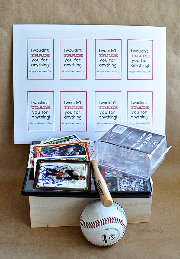 Trading Card Valentine supplies www.thirtyhandmadedays.com