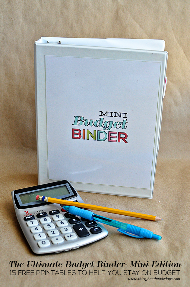 printable ultimate budget binder mini edition