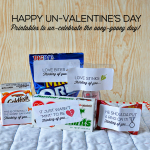 Happy Un-Valentine's Day- silly pun related printable labels for those who don't feel like celebrating Valentine's Day www.thirtyhandmadedays.com