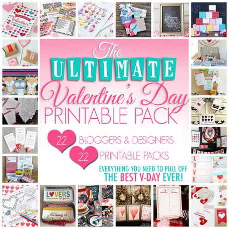 Over 20 Valentine's Printables Packet available from www.thirtyhandmadedays.com