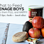 What to Feed Teenage Boys to Keep Them Full and Happy - 20+ tips, tricks and lunch ideas www.thirtyhandmadedays.com