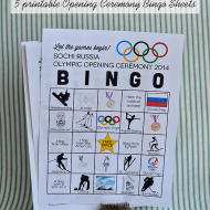 Printable Winter Olympics Opening Ceremony BINGO