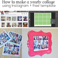 How to Make a Yearly Collage using Instagram + Free Template