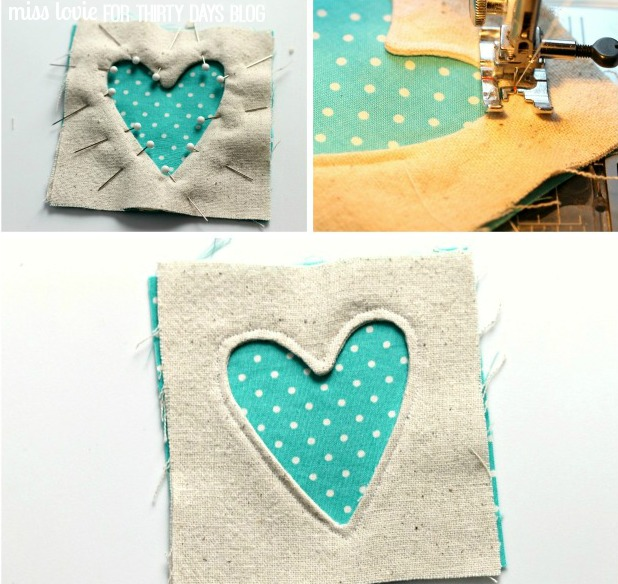 07 Inverse Applique Fabric Coasters