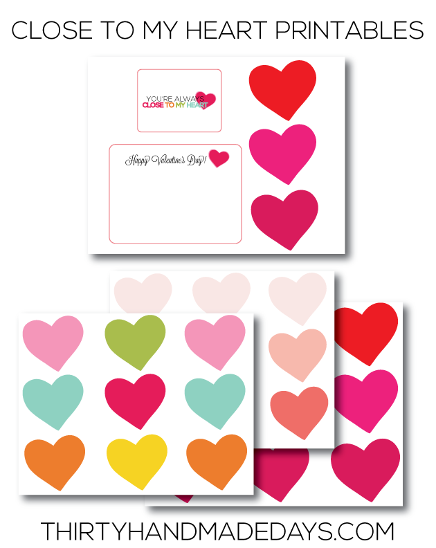 closetomyheartprintables