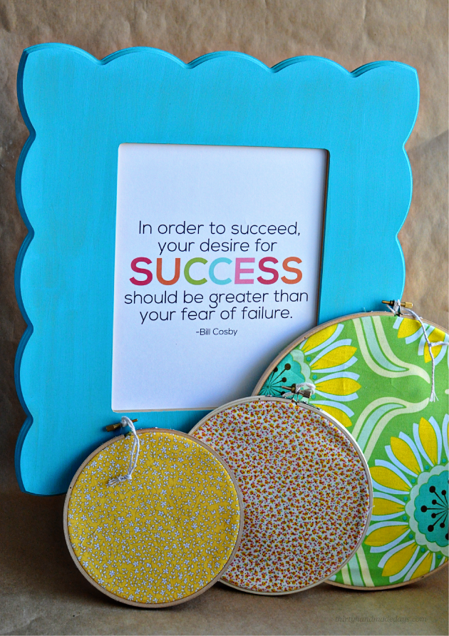 Easy Gift Idea- Printable Interchangeable Quotes with cute frame from Cut It Out www.thirtyhandmadedays.com