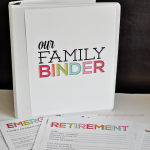 Updated Family Binder Printables- 8 amazing printables to help you create a binder for all of your most important information www.thirtyhandmadedays.com