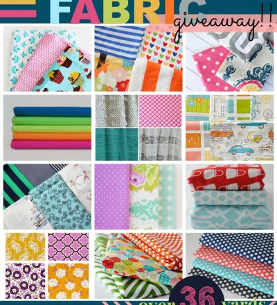 Over 36 yards of fabric to giveaway to one lucky reader!!