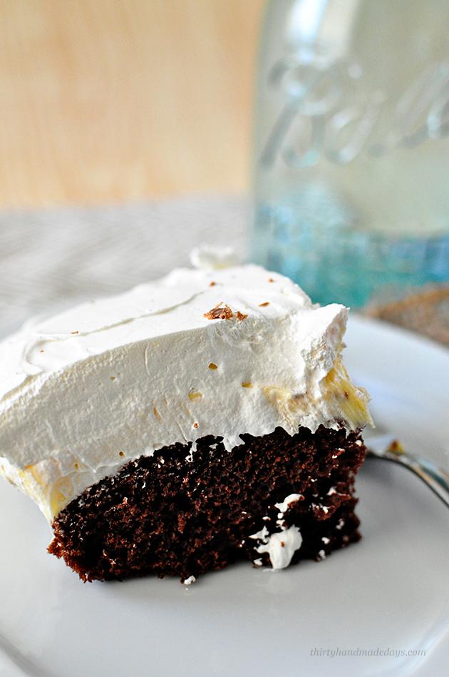 Our family favorite dessert- Million Dollar Cake- requested for every birthday! thirtyhandmadedays.com