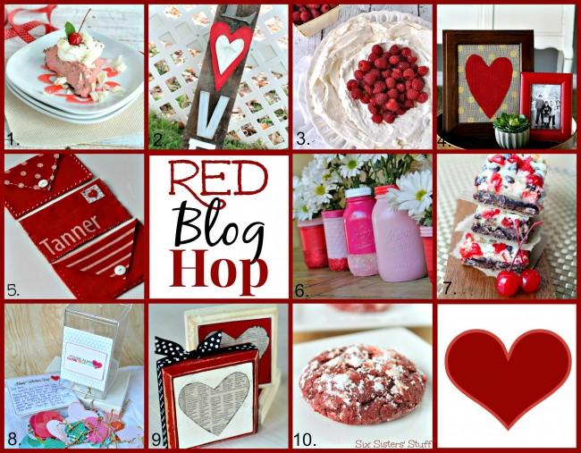 "Monthly blog hop featuring ""RED"" posts via www.thirtyhandmadedays.com"