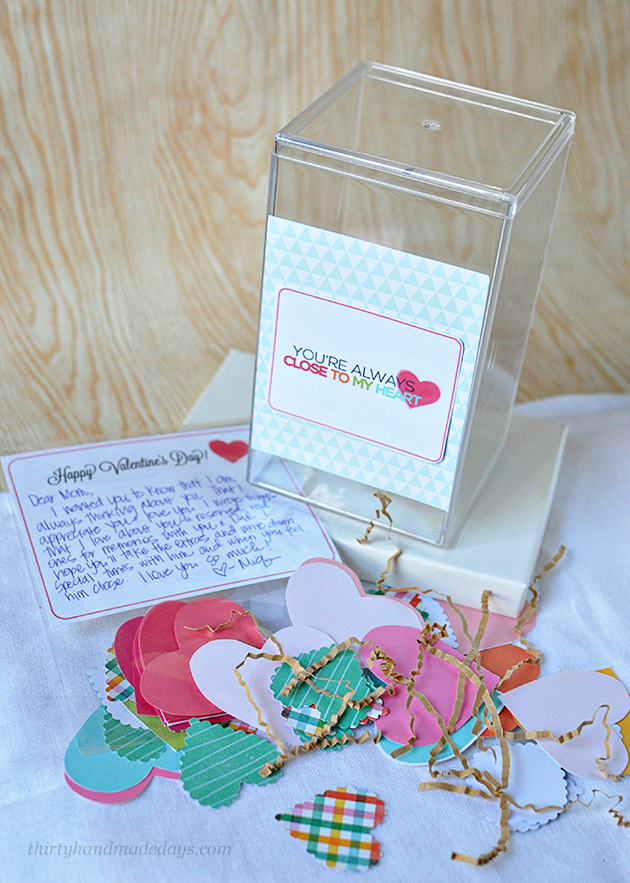 Close to My Heart Gift Idea- let someone know how much they mean to you with a jar full of memories! www.thirtyhandmadedays.com