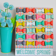 Adorable Welcome Spring Canvas + Printable
