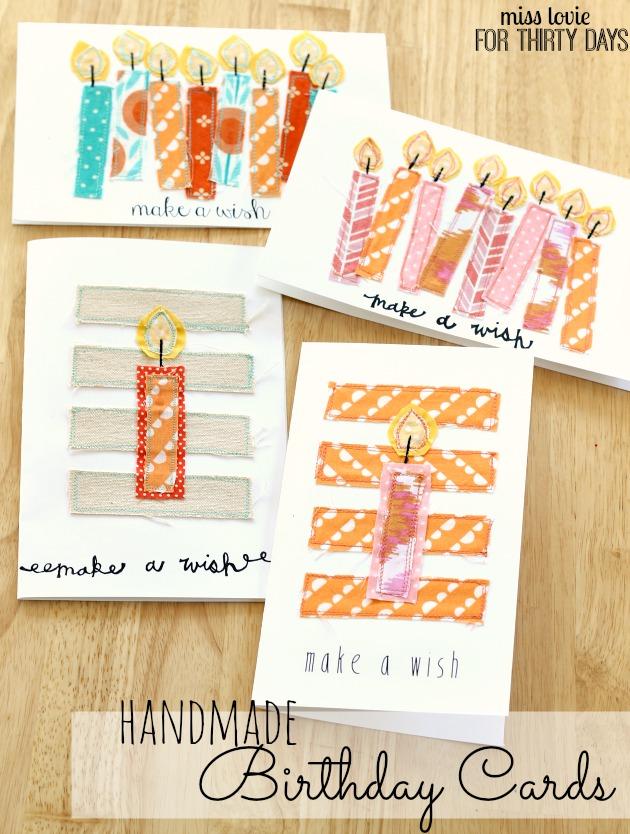 12 Handmade Birthday Cards