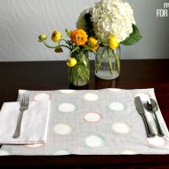 Spring Sketchy Dot Placemats
