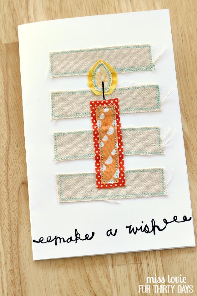 16 DY Sewn Birthday Card