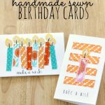 Handmade Sewn Birthday Cards-Miss Lovie for Thirty Days