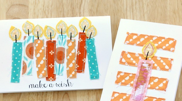 Handmade Sewn Birthday Cards