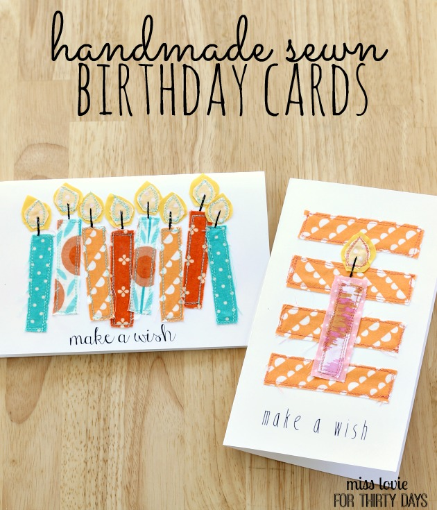 Handsewn Birthday Cards