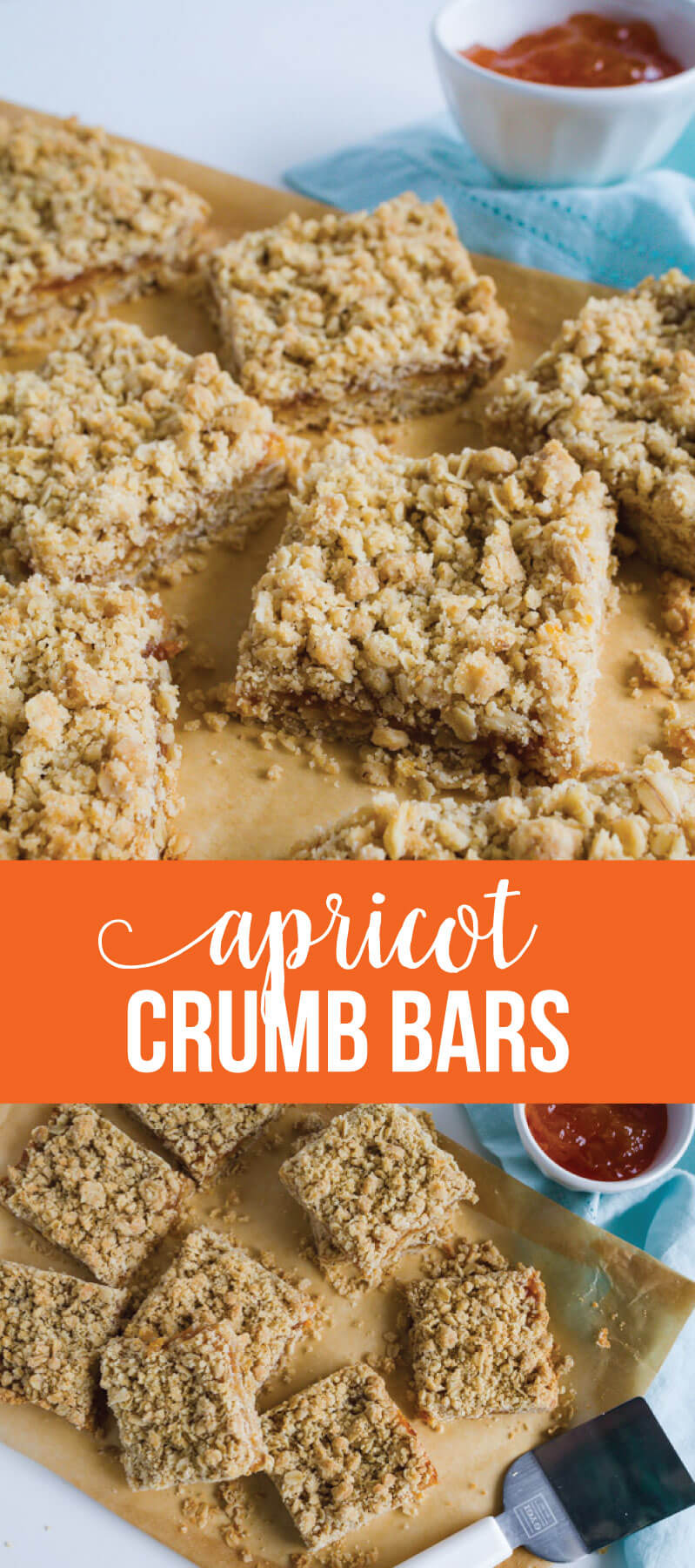 Apricot Crumb Bars - simple to make and oh so tasty! www.thirtyhandmadedays.com
