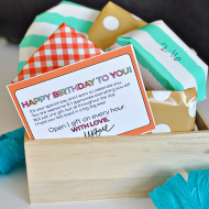 Birthday on the Hour Gift Idea + Printable