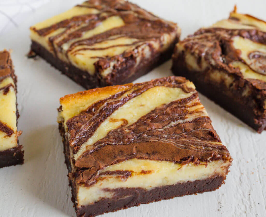 Cheesecake Brownies - they are delicious and simple and a fun take on regular brownies.
