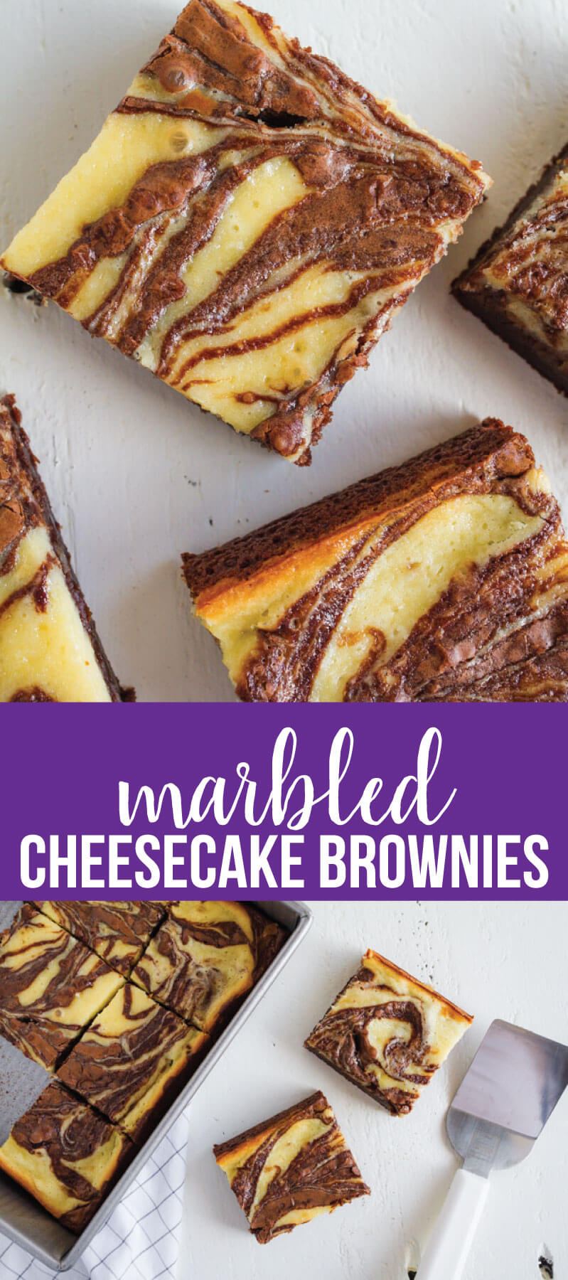 Cheesecake Brownies - they are delicious and simple and a fun take on regular brownies. www.thirtyhandmadedays.com