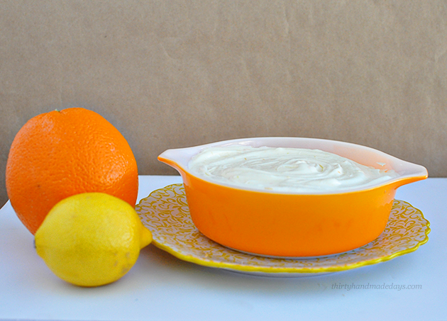 Light & fluffy amazingly delicious Citrus Fruit Dip - YES! This is sooo good. Must try! | Thirty Handmade Days