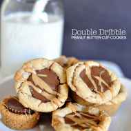 Double Dribble Peanut Butter Cup Cookies