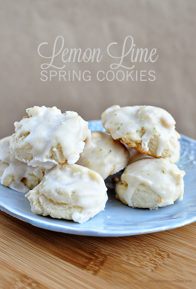 Delicious and easy to make Lemon Lime Spring Cookies | Thirty Handmade Days