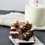 Make these amazing Marble Cheesecake Brownies and blow everyone away! from Thirty Handmade Days