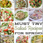 Amazing round up of must try Salad Recipes for spring! | Thirty Handmade Days