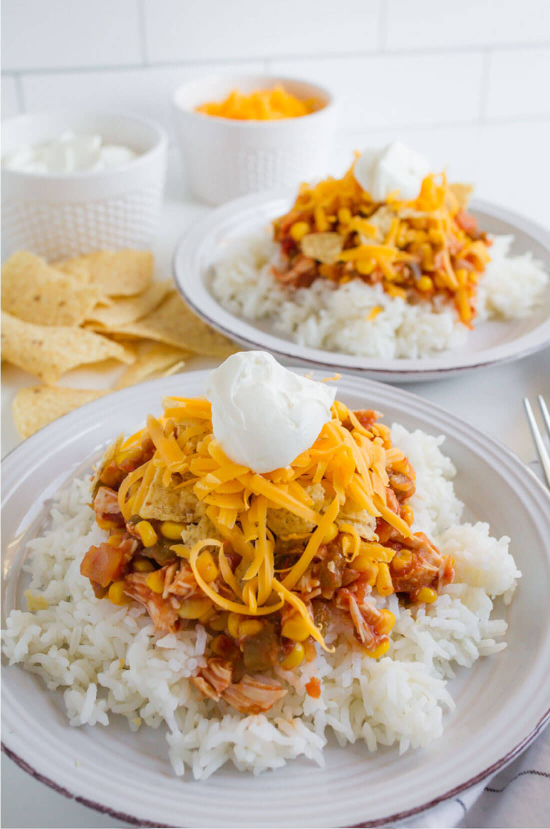 Slow Cooker Chicken Tex Mex - simple crockpot recipe that the whole family will love! thirtyhandmadedays.com
