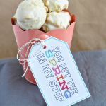 Yummy Spring Cookies + Cute Printable Tag - easy to make and taste great, treat your friends and family to this cute tag!   Thirty Handmade Days