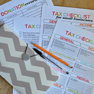 Printable Tax Information for Your Budget Binder