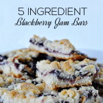 Super delicious and only 5 ingredients- these Blackberry Jam Bars are so simple to make! | Thirty Handmade Days