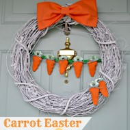Cute Carrot Easter Wreath