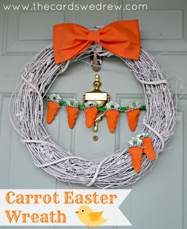 Carrot Easter Wreath
