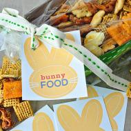 Bunny Food with Printable Easter Tags