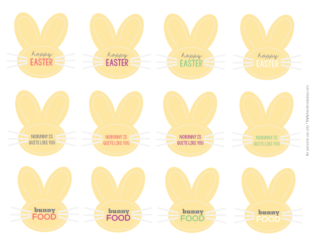 Cute Easter Printable Tags | Thirty Handmade Days