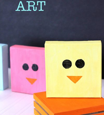 Simple Chick Canvas Art - so easy to make and adorable. Perfect for Easter!