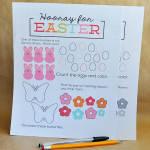 Printable Easter Worksheets - print and have kids fill in! | Thirty Handmade Days