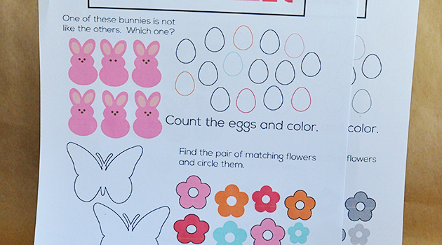 Simple Printable Easter Worksheets