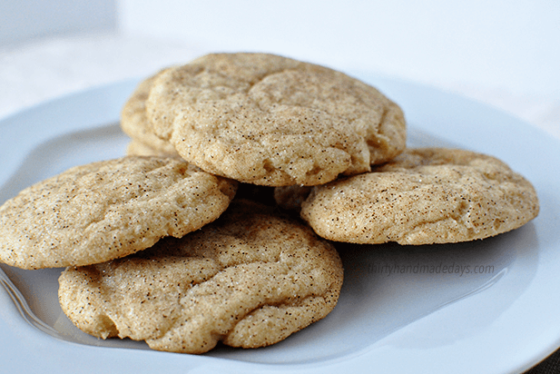These are hands down the best Snickerdoodle cookies I've ever had. I could eat a dozen in one sitting. from thirtyhandmadedays.com