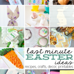 Fun last minute Easter ideas- featuring crafts, recipes, printables, and more! | Thirty Handmade Days